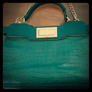Beautiful croc skin like  Olivia+Joy shoulder bag